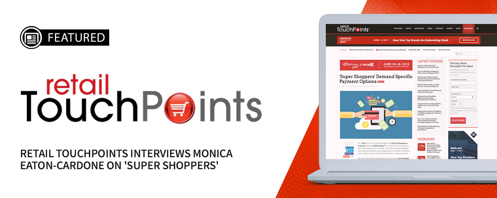 Retail Touchpoints Interviews Monica Eaton-Cardone on 'Super Shoppers