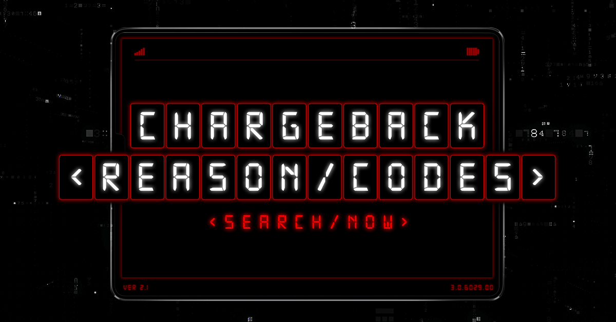 chargeback reason codes the ultimate guide - Credit Card Merchant Name Search