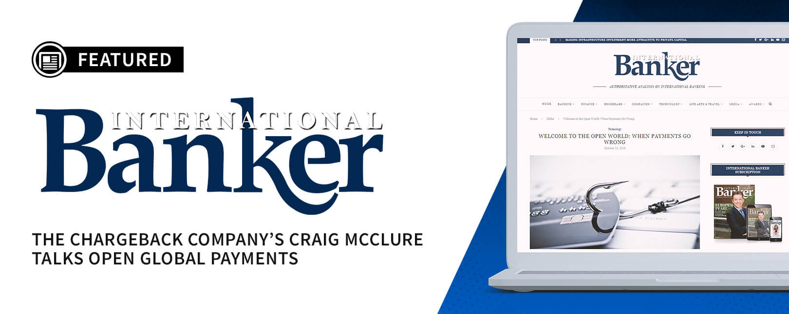 Craig McClure Featured on International Banker