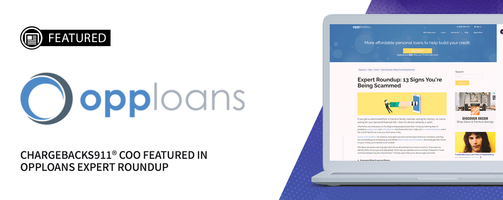 Chargebacks911 COO Featured in OppLoans Expert Roundup